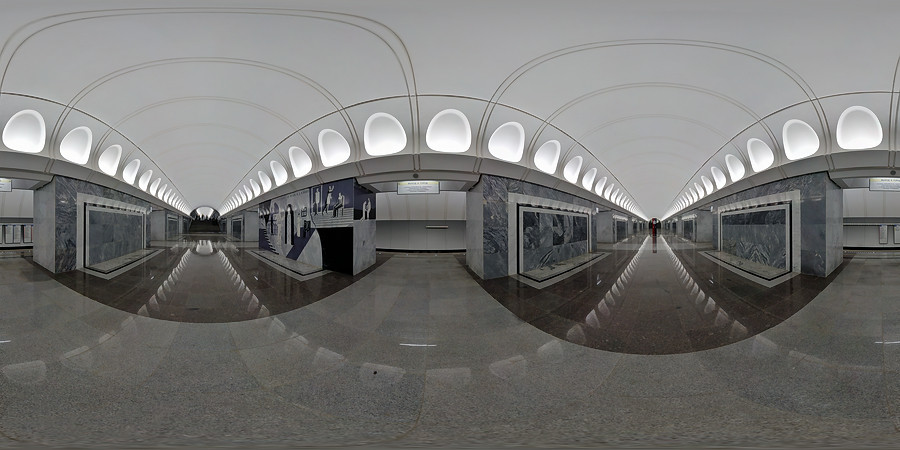 Virtual tour on Dostoevskaya metro station
