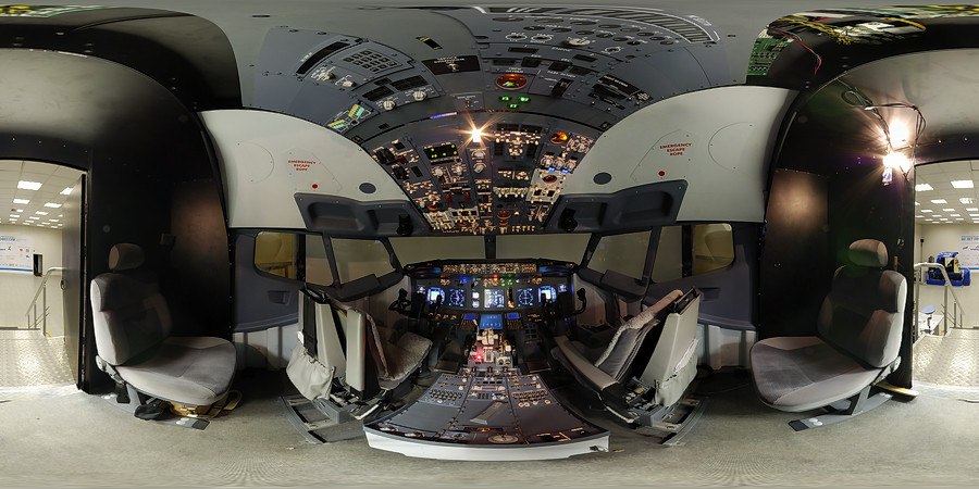 Boeing-737 flight trainer